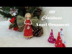 DIY Christmas Angel Ornament | Thiên Thần Đỏ | Huong Harmon - YouTube Diy Christmas Angel Ornaments, Christmas Tree Toppers, Christmas Angels, Handmade Christmas, White Christmas, Christmas Diy, Christmas Decorations, Holiday Decor, Diy Doll