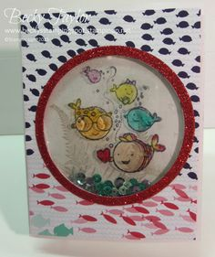 Shaker card, Hey Valentine DSP, effects, sheets Valentine Cards, Valentines, Shaker Cards, Animal Cards, Stamping Up, Kids Cards, Fun Crafts, Water Life, Create