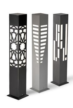 render gercek resim try large cut shapes in slab. Bollard Lighting, Outdoor Lighting, Column Lights, Steel Art, Plasma Cutting, Wood Lamps, Pipe Lamp, Deco Design, Metal Furniture