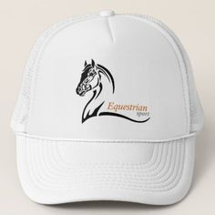 equestrian sport trucker hat - horse animal horses riding freedom