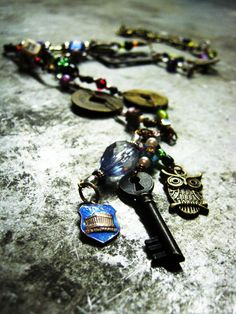 One of a kind junk necklace by thatgirlmegan on Etsy, $30.00