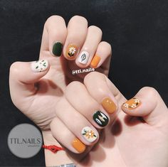 Nail art Christmas - the festive spirit on the nails. Over 70 creative ideas and tutorials - My Nails Cute Nail Art, Cute Nails, Pretty Nails, My Nails, Cute Summer Nail Designs, Cute Summer Nails, Korean Nail Art, Korean Nails, Minimalist Nails