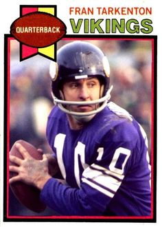 Fran Tarkenton Nfl Football Players, Best Football Team, Football Memes, Equipo Minnesota Vikings, Minnesota Vikings Football, Custom Football, Vintage Football, Football Trading Cards, Football Cards