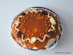 Kissankäpälä: Kinuskisuklaakakku, caramel chocolate cake