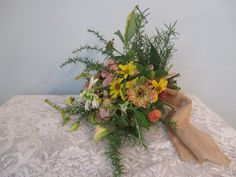 late summer fall bouquet zinnia, tuber roselisianthus, wild sunflower, aster, goldenrod by leeattbirdsandbees