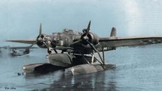 The Heinkel He 115 was a World War II Luftwaffe seaplane with three seats. It was used as a torpedo bomber and performed general seaplane duties, such as reconnaissance and minelaying. The plane was powered by two 960 PS (947 hp, 720 kW) BMW 132K nine-cylinder air-cooled radial engines. Some later models could seat four, had different engines, or used different weapon setups.