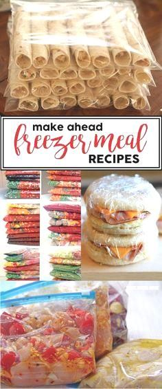 Make Ahead Freezer Meals - homemade recipes and ideas to…