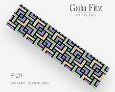 Modern geometry bead loom pattern will be a great idea to make some festive bracelet for you or as a gift. Loom bracelet pattern made with Miyuki Delica beads. Bead Crochet Patterns, Bead Embroidery Patterns, Beading Patterns Free, Beaded Jewelry Patterns, Seed Bead Patterns, Beaded Embroidery, Bead Jewelry, Weaving Patterns, Art Patterns