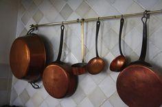 Vakantiehuis in de Lot - Dordogne  Frankrijk. Koken met koperen pannen.