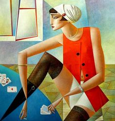 Fine Art and You: 20 Mind Blowing and Beautiful Cubist Art Works By Georgy Kurasov Cubist Artists, Cubism Art, Disney Paintings, Paintings Online, Art Deco, Art Mural, Russian Art, Art Plastique, Anime Comics