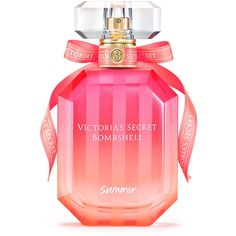 Victoria's Secret Bombshell Summer Perfume ($52) ❤ liked on Polyvore featuring beauty products, fragrance, victoria secret fragrance, fruity perfume, victoria's secret, victoria secret perfume and perfume fragrance