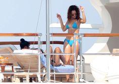 Rihanna Fenty beach pool style bikini swimsuit israel barbados brazil capri italy monaco