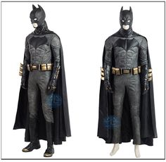 Professional Justice League Batman Cosplay Costume Batman Cosplay Costume, Anime Costumes, Movie Costumes, Cosplay Costumes, Sith, Lolita Dress, Cloak, Capes, Justice League