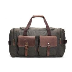 Duffel Bag, Canvas and Leather
