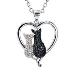 Twin Cats Sterling Necklace