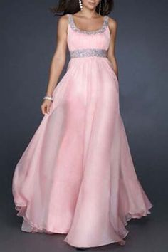 Vestido de estilo T-cuello sin mangas con lentejuelas mujeres empalmadas (Rosa,XL) | Sammydress.com