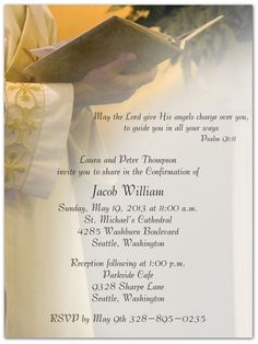 confirmation invitations touch of color front surf layout