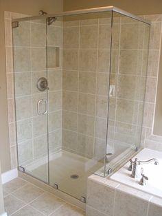 Custom Frameless Shower Doors - traditional - showers - boise - View Point Windows, Inc.