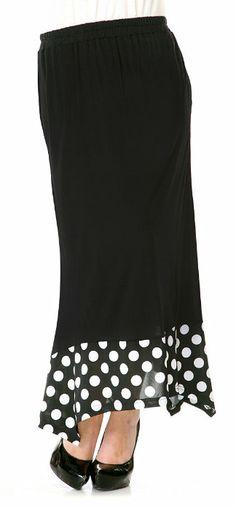Black & White Polka Dot Maxi Skirt