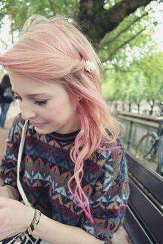 Girls Pink Hairstyle for Spring 2014