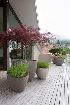 Japanese Garden - inspiration for a harmonious garden design - Garten Outdoor Pots, Outdoor Gardens, Terrace Garden, Small Terrace, Terrace Ideas, Terrace Design, Balcony Gardening, Design Jardin, Garden Oasis