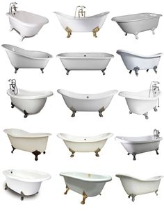 The Iconic Claw Foot Tub; I will gladly take them all please, and thank you!