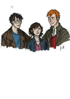 Harry Potter, Hermione and Ronald Weasley Harry Potter Drawings, Harry Potter Books, Harry Potter Fan Art, Harry Potter Fandom, Harry Potter World, Harry Potter Memes, Ron And Hermione, Ron Weasley, The Nerd