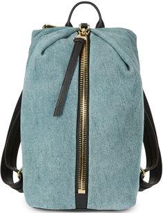 AIMEE KESTENBERG Tamitha Denim and Leather Backpack Denim