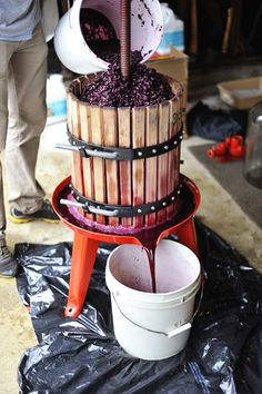 to Make Wine Making homemade wineMaking homemade wine Make Your Own Wine, How To Make Beer, Wine And Liquor, Wine And Beer, Beer Brewing, Home Brewing, Food Storage, Homemade Wine Recipes, Wine Press