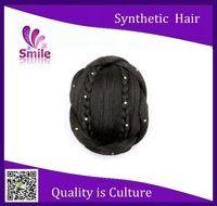 2015 postiche synthetic braiding hair buns virgin hair bun pieces new style high quality bun hair buns clip in on hair bun