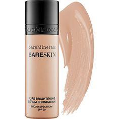 Bare Minerals BareSkin Pure Serum Foundation Broad Spectrum SPF 20 Bare Satin 06 1.0 oz Bare Escentuals
