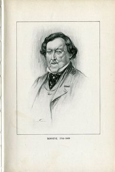 Gioachino Rossini (1792-1868), drawing (1918), by Chase Emerson (1874-1922), published in The Lure of Music, facing page 4.