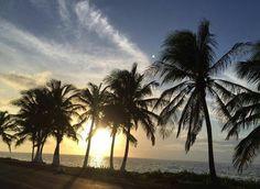 Paradísiaco atardecer en mi personal paradise...