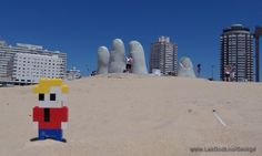LEGO Life of George in Uruguay at Monumento al Ahogado Monument to the Drowned
