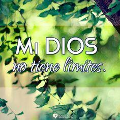Imagen: Mi Dios no tiene limites - Logos C.D.A - Expresando Palabra de Vida