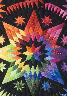 Stars in the Night     ..and there is a link to her website.. sells quilty stuff and lavender                                                                                                                                                     Más