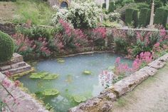 man-made pond, backyard garden Nature Aesthetic, Pink Aesthetic, Water Features, Mother Nature, Avengers, Beautiful Places, Scenery, Backyard, Pictures