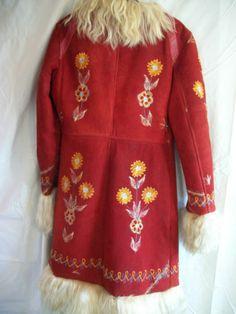 Fabulous Vintage Afghan Hippy Embroidered Sheepskin Coat.   eBay