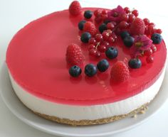 Blåbær Ostekake... - Oppskrift fra myTaste Cookie Desserts, Cake Cookies, Panna Cotta, Pancakes, Cheesecake, Baking, Breakfast, Ethnic Recipes, Food