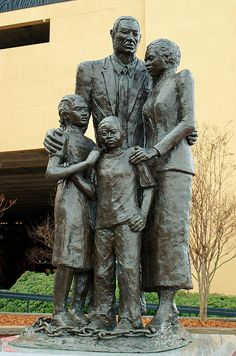 """We were stolen, sold and bought together from the African continent. We got on the slave ships together. We lay back to belly in the holds of the slave ships in each others excrement and urine together, sometimes died together, and our lifeless bodies thrown overboard together. Today, we are standing up together, with faith and even some joy."" SLAVERY MONUMENT, River St - Savannah GA"