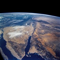 Released to Public: Sinai Penninsula and Dead Sea from Space Shuttle Columbia, March 2002 (NASA) - Nature And Science Earth And Space, Cosmos, Space Iphone Wallpaper, Hd Wallpaper, Nature Wallpaper, Iphone Wallpapers, Desktop, Sinai Peninsula, All Nature