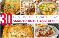 WW SPCasseroles are a great and easy way to feed your entire family without guilt. You can make one of these delicious meals for dinner, and know that you won't be slaving over the stove