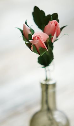 Paper Rose Bud Templates