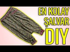 DÜNYANIN EN PRATİK YÖNTEMİYLE! KOLAY ŞALVAR YAPIMI (Şalvar Kesimi ve Dikimi) DIY Easy Shalwar Sewing - YouTube Diy Home Crafts, Etsy Handmade, Sewing, Pants, Youtube, Fashion, Sewing Patterns, Sewing Projects, Trouser Pants