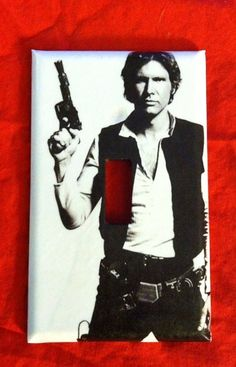 Han Solo Star Wars movie light switch cover house wares home decor