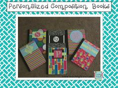 Make personalized composition books for your teammates!