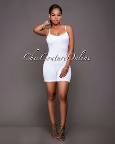 Chic Couture Online - Dynamic White Seamless Body-Con Romper.(http://www.chiccoutureonline.com/dynamic-white-seamless-body-con-romper/)