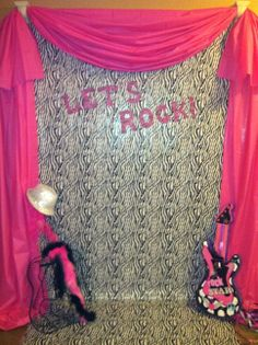 Backdrop idea for Stage/Performance area   Rock Star Stage