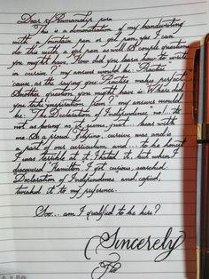A letter to r/PenmanshipPorn : PenmanshipPorn Amazing Handwriting, Handwriting Examples, Handwriting Fonts, Penmanship, Handwriting Worksheets, Hand Lettering Art, Tattoo Lettering Fonts, Fancy Letter M, Cursive Alphabet