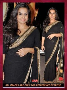 BIKAW-Black Color  Georgette Saree-bkw-22